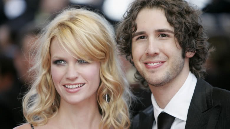 January Jones and Josh Groban