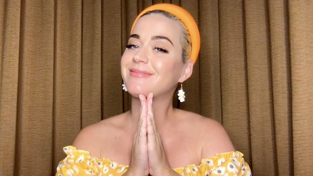 Katy Perry on a livestream in 2020