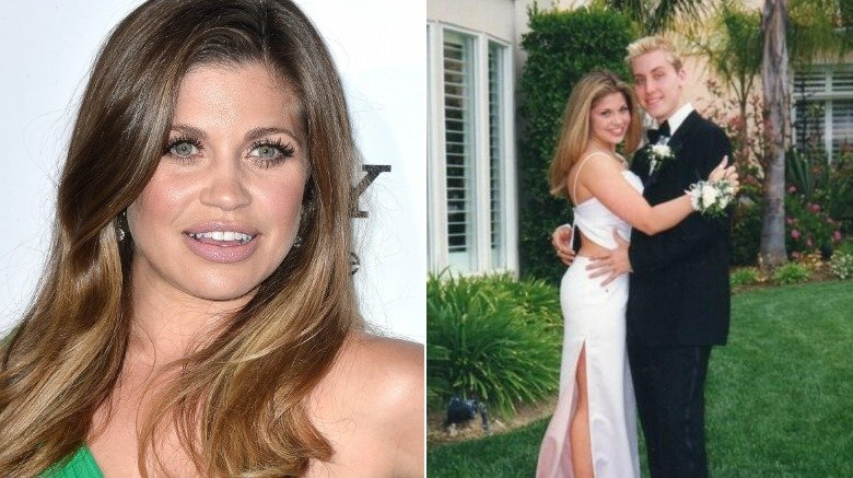 Danielle Fishel and Lance Bass at prom