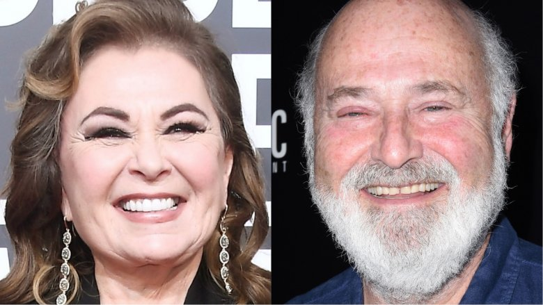 Roseanne Barr and Rob Reiner
