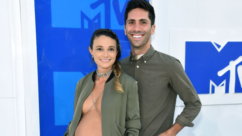 Laura Perlongo and Nev Schulman at the MTV VMAs