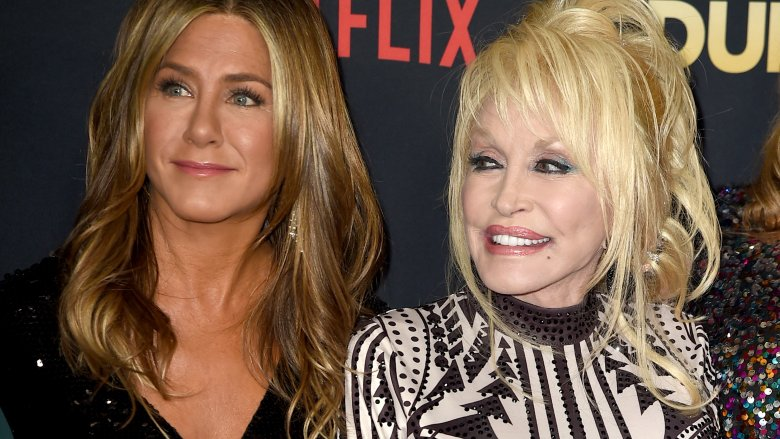 Dolly Parton and Jennifer Aniston
