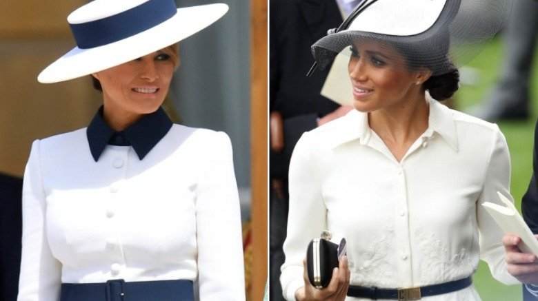 Melania Trump on her official State Visit to the United Kingdom, Meghan Markle at the Royal Ascot in 2018