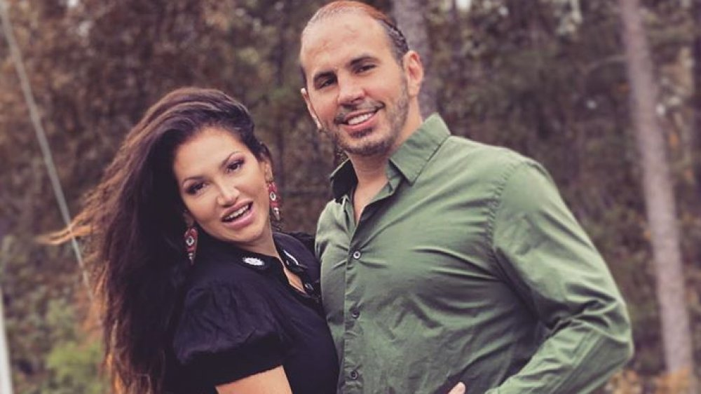 Matt Hardy and Reby Sky hugging and smiling in an Instagram photo