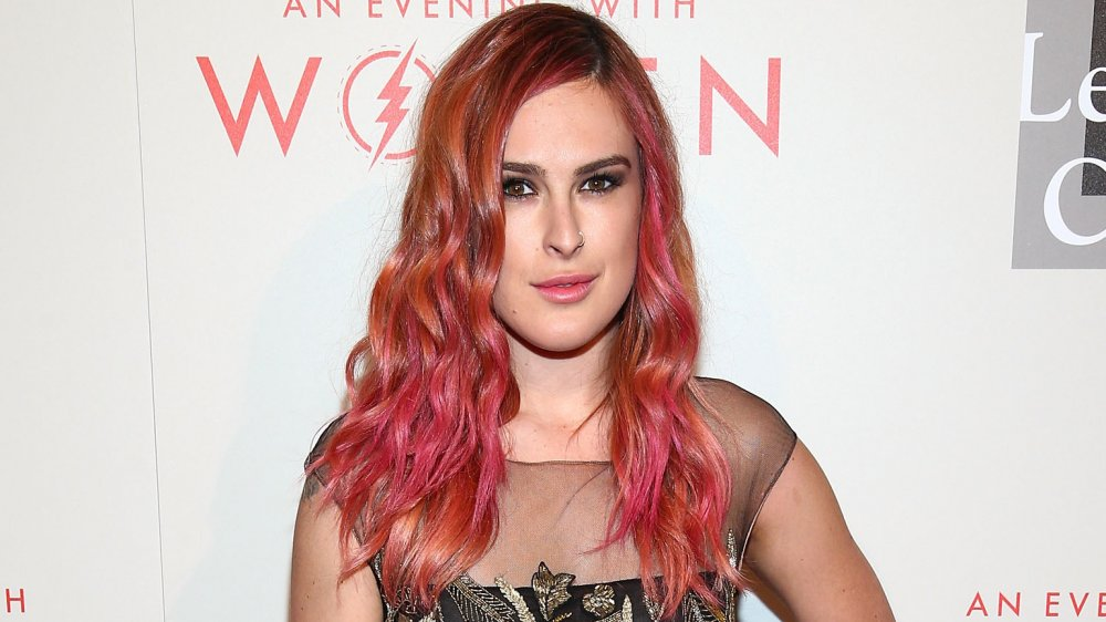 Rumer Willis dons long, pink hair