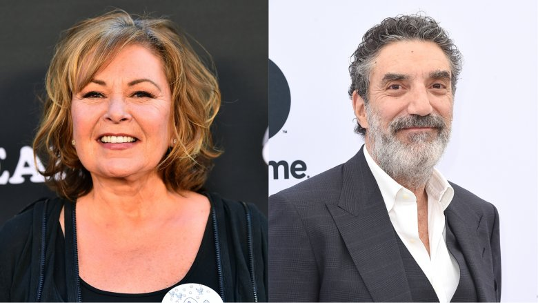 Roseanne Barr and Chuck Lorre