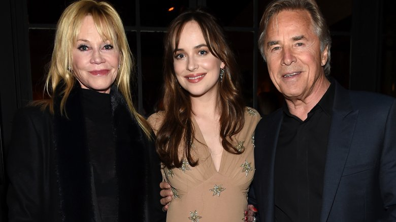Melanie Griffith, Dakota Johnson and Don Johnson