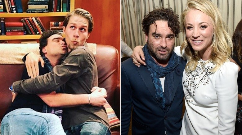 Johnny Galecki with Karl Cook and Kaley Cuoco