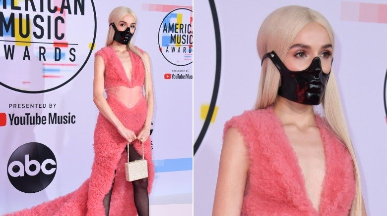 Poppy on the 2018 American Music Awards red carpet