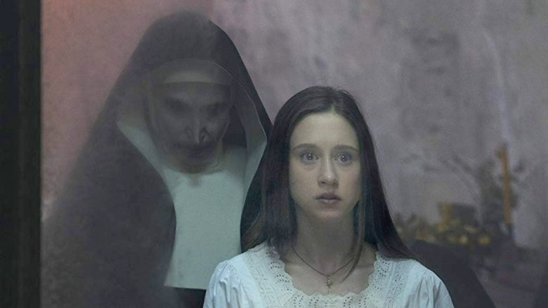 Taissa Farmiga and Bonnie Aarons in The Nun