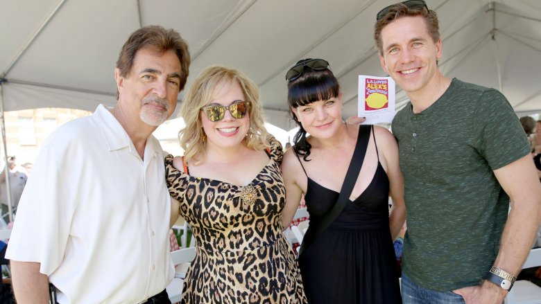 Pauley Perrette with friends