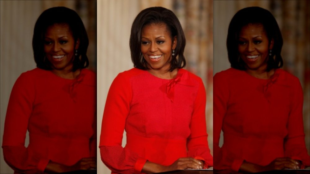 Michelle Obama speaking at the White House in 2011