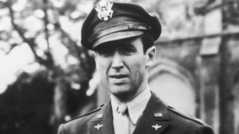 Jimmy Stewart in his U.S. Air Force Officer's uniform during WWII