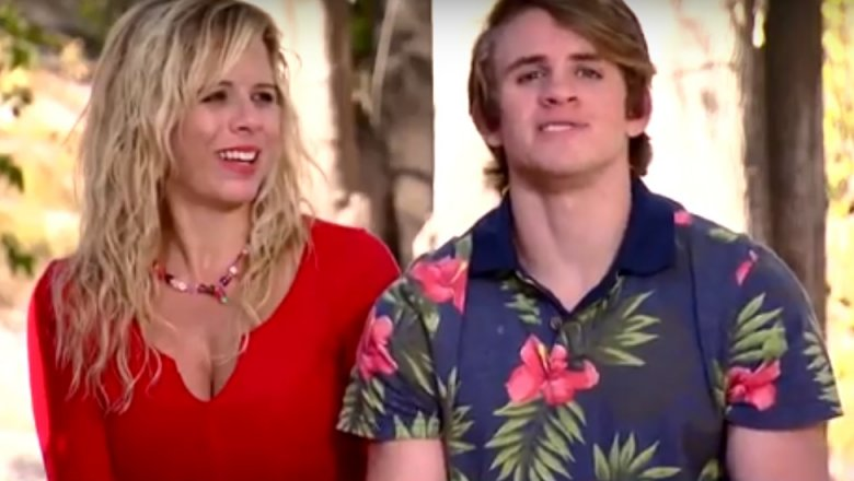Cole and his mom on The Amazing Race