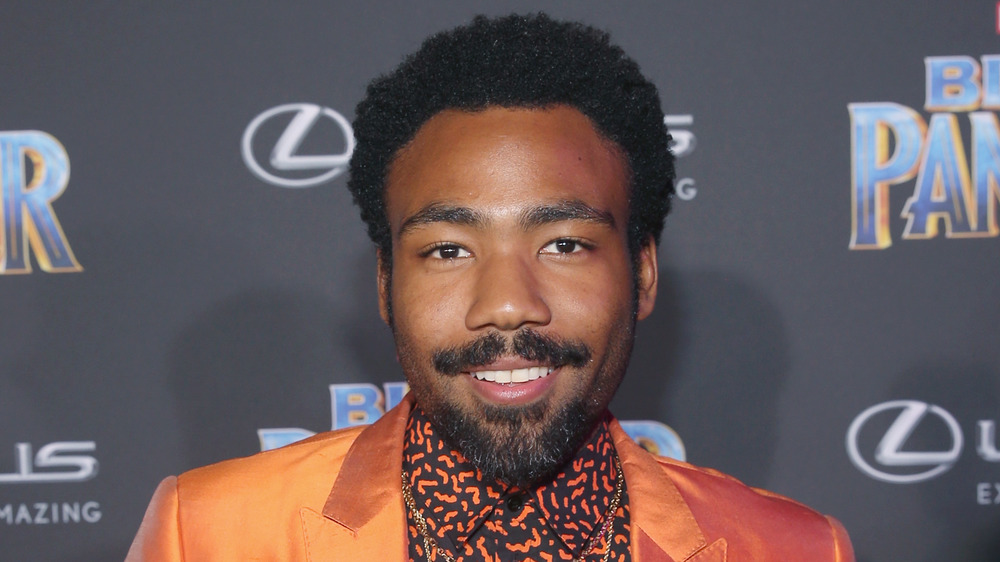 Donald Glover at the Black Panther premiere