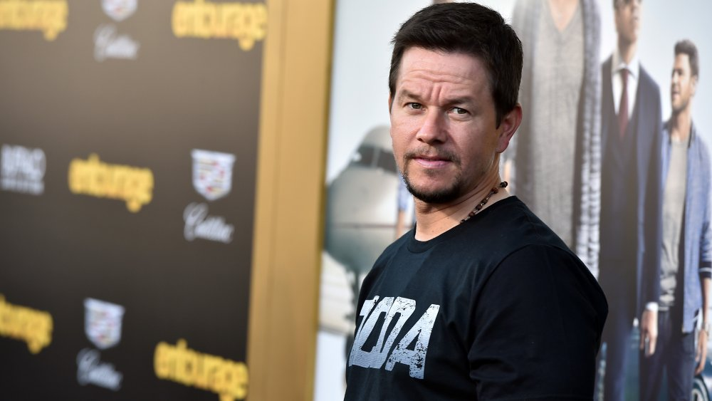 Mark Wahlberg in a black graphic tee