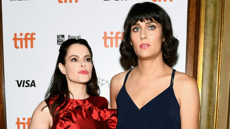 Emily Hampshire and Teddy Geiger