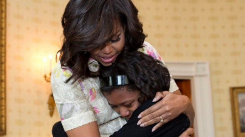 Michelle Obama and daughter