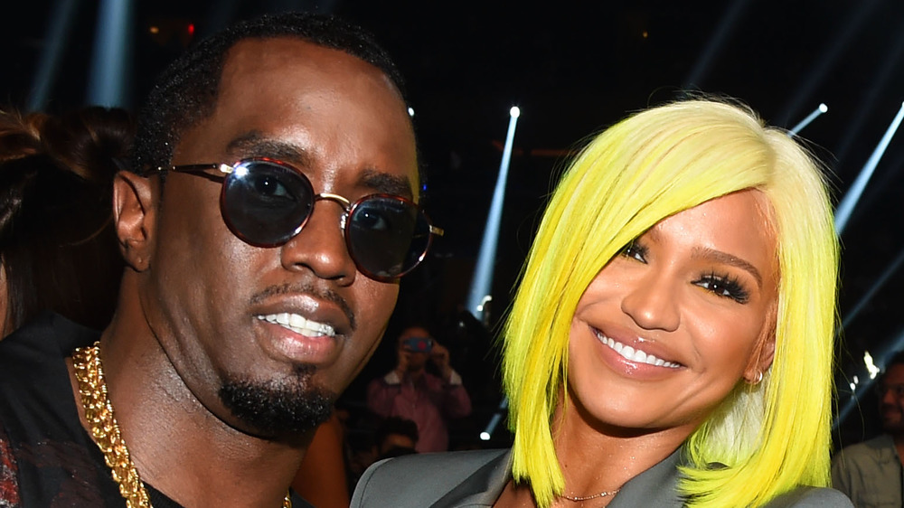Diddy and Cassie smiling