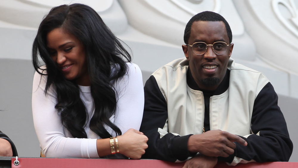 Cassie and Diddy laughing