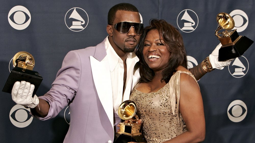 Kanye West and Donda West at the 2006 Grammys